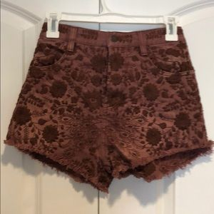 ❤️Loved Free People brown Denim shorts sz 25